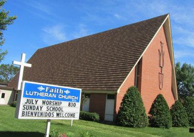 Faith Lutheran Church Madelia, MN Decra Shake Antique Chestnut (2)