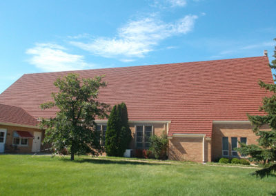 St Ann Catholic Church Miller, SD Decra Villa Tile Rustico Clay (2)